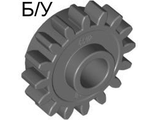! Б/У - Technic, Gear 16 Tooth with Clutch, Smooth, Dark Bluish Gray (6542b / 4237267) - Б/У
