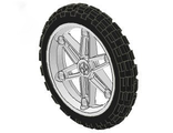Wheel 61.6mm D. x 13.6mm Motorcycle, with Black Tire 81.6 x 15 Motorcycle  2903 / 2902 , White (2903c01)
