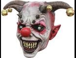 страшная маска, из латекса, латексная, силиконовая, клоун, ужасный, бубенцы, клыки, на голову, scary