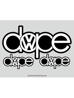 """Dope Vw"" Car Stickers"