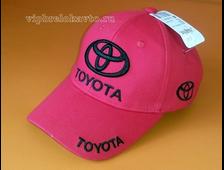 Бейсболка с логотипом авто TOYOTA (красная)