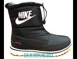 Дутики Nike черные с мехом