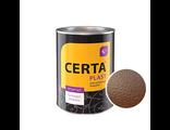 Молотковая эмаль Церта-Пласт коричневая 0,8 кг