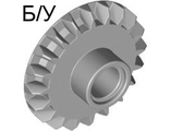 ! Б/У - Technic, Gear 20 Tooth Bevel with Pin Hole, Light Bluish Gray (87407 / 4558690) - Б/У