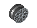 Wheel 11mm D. x 6mm with 8 'Y' Spokes with Silver Outline Pattern, Black (93595pb02 / 4616406 / 6022400)