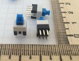 7X7mm 3хпиновая кнопка с фиксацией