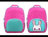 Школьный пиксельный рюкзак Upixel в ярких красках розовый