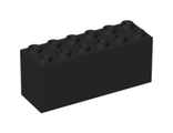 Brick, Modified 2 x 6 x 2 Weight - Bottom Sealed, Dimple on Ends, Black (73090b / 6094053 / 73834 / 73843)