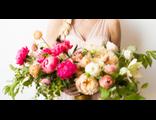 Свадебный букет невесты розовый фламинго
