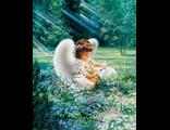 Ангелочек с кроликом, худ. Дона Гельсингер