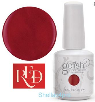 Gelish Harmony, цвет № 01081 Man of the Moment - Red Matters - Holiday Collection 2015