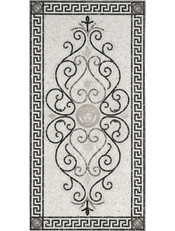 VERSACE: ROSONE MOS.WHITE-BLAC - Wide Panel