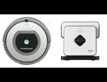 Робот-пылесос для сухой уборки iRobot Roomba 880 и робот-полотер iRobot Braava 380