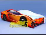 Кровать машина ЛАМБО оранжевая