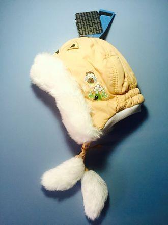 Теплая зимняя шапка-ушанка Lummie цвет Beige Owl