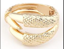 Стильный браслет с когтями Claws золотой