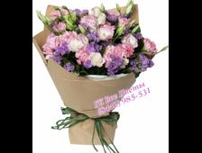 11 розовых тюльпанов