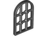Window 1 x 2 x 2 2/3 Pane Twisted Bar with Rounded Top, Black (30045 / 4105221)
