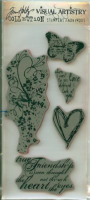 Tim Holtz Rubber Cling Stamp - Heartfelt