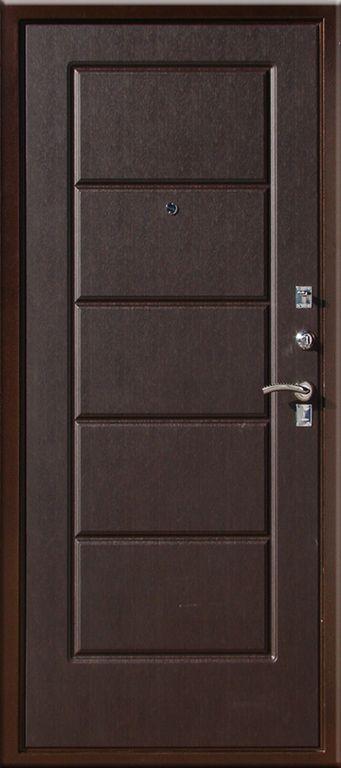металлическая дверь венге