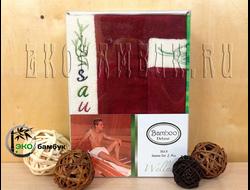 Комплект для сауны из бамбука мужской Бордо