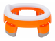 Складной дорожный горшок Roxy Kids HandyPotty насадка на унитаз оранжевый