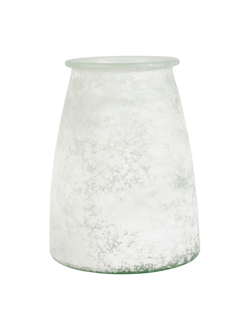 Ваза VASE ANDALOU WHITE D17X22CM GLASSарт.32183