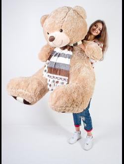 """Плюшевый медведь """"Джонни"""" золотой 180 см."""
