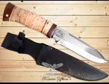 Нож Охотничий НС-40 (Рукоять: береста, Сталь: ЭИ-107, Тыльник: текстолит)