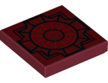 Tile 2 x 2 with Geometric Pattern, Dark Red (3068bpb1133 / 6200011)