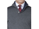 Джемпер T.M.LEWIN Grey Merino Button Neck Jumper