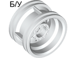 ! Б/У - Wheel 30.4mm D. x 20mm with No Pin Holes and Reinforced Rim, White (56145 / 4496197 / 4624514 / 6151728) - Б/У
