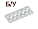 ! Б/У - Technic, Plate 2 x 6 with 5 Holes, White (32001 / 4527947) - Б/У