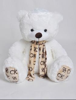 """Плюшевый медведь """"Джонни"""" белый 100 см."""