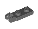 Hinge Plate 1 x 2 Locking with 2 Fingers on End with Bottom Groove, Dark Bluish Gray (44302a / 4210884)