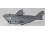 Shark with Gills with Black Eyes and White Pupils Pattern - Complete Assembly, Dark Bluish Gray (14518c01pb01)
