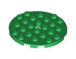 Plate, Round 6 x 6 with Hole, Green (11213 / 6097413)