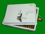 Инкубатор ИБ2НБ-3-4Ц (104 яйца, автоматический поворот яиц, 220/12 В, цифровой терморегулятор, решётка для куриных яиц в комплекте)