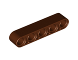 Technic, Liftarm 1 x 5 Thick, Reddish Brown (32316 / 6179636)