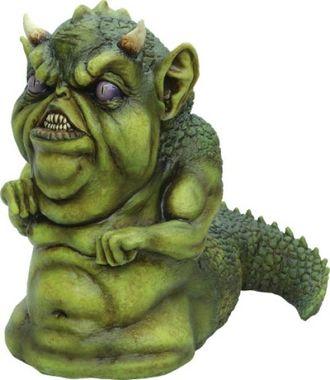страшный дракон, существо, дракоша, зубастик, статуэтка, скульптура, игрушка, злобный, зелёный, ужас