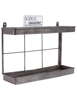 Полочка металл 162490 BRUSH & SOAP STAND NATURAL 31X10.5XH26CM IRON