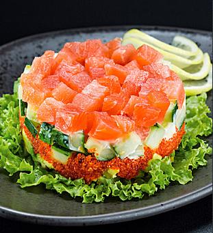Салаты с семгой и авокадо рецепты с