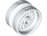 Wheel 18mm D. x 12mm with Axle Hole and Stud, White (18976 / 6132265)