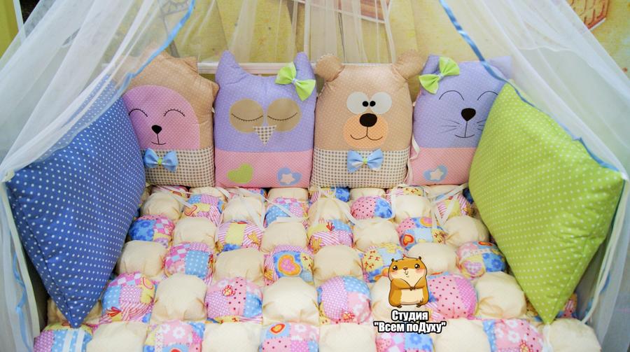 Бортики в кроватку из подушек для новорожденных своими руками выкройки