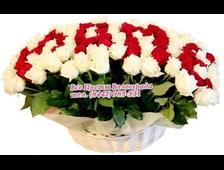 Корзина со 101 розой МАМЕ