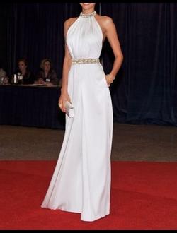 066bff2aa1e Элегантное модное платье из стрейч атласа А-силуэта