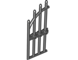Door 1 x 4 x 9 Arched Gate with Bars and Three Studs, Black (42448 / 4169414 / 6008363)