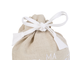 МЕШОК ДЛЯ ВАННОЙ 200561 LAUNDRY BAG LES BAINS WHITE 22X25CM LINEN+COTTON