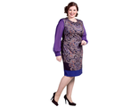 """Милое платье """"ОДРИ"""" Арт. 415061 (Цвет фиолетовый)  Размеры 52-62"""