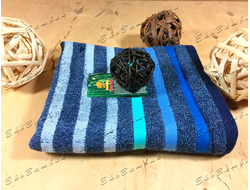 Бамбуковое полотенце спорт класс 48х98 Бамбук-хлопок полоски морской